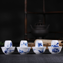Jingdezhen ceramic scented Cup hand-painted Kung Fu Tea smell tea fragrant tea of the four gentleman tea cup single