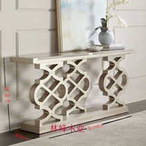 American light luxury solid wood Xuanguan table French-style Xuanguan table modern minimalist club hotel corridor decorative cabinet home