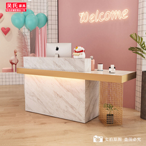 Cashier simple modern small Light Luxury Beauty Salon bar company front reception womens clothing store cashier