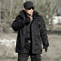 Shield lang black military coat male Winter thickened Army fan security training cotton clothing cold coat labor jacket authentic