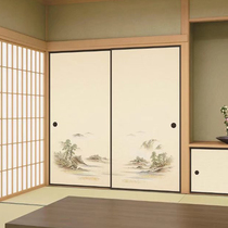 Huaju and room tatami sliding door custom-made fussma door partition lattice door sliding door collapse collapse rice wardrobe door