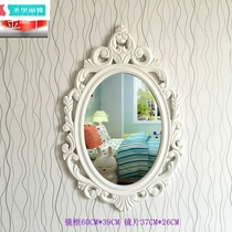 Creative pastoral wall-mounted bathroom mirror European-style dresser mirror wall beauty salon headmirror hanging wall dressing mirror