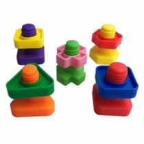 New baby screw screw toy nut shape matching spell plug children building blocks force young baby screw cap toys