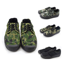 Liberation shoes mens Army shoes low to help camouflage shoes 07 black for training shoes labor insurance rubber shoes military training shoes construction labor shoes