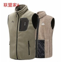Warm vest autumn and winter men plus velvet padded jacket middle-aged fleece waistcoat father coat male