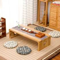 Solid wood bay window table Japanese tatami tea table Kang table balcony table short Zhuo window sill small table Tea Table Table National School table