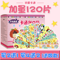 Cartoon band-aid Female Girls Cute Korean children breathable waterproof bandage medical ok stretch 120