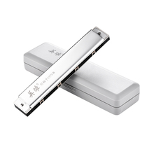 Hero harmonica senior adult 24 hole Polyphony C tune beginner teaching competition professional middle-aged and elderly playing musical instruments