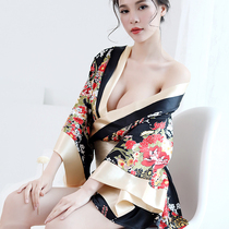 Night fire sexy fun dead water pajamas provocative show Siamese open file underwear coat hot vintage Le Yin photo
