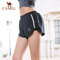 Camel sports pants shorts women running fitness pants anti-Light hot pants summer yoga pants loose quick-drying three pants
