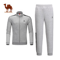Camel outdoor 2019 autumn new casual running two-piece mens long-sleeved pants cardigan sportswear