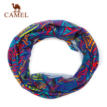 Camel Outdoor couple headscarf multi-wrinkle comfortable casual sports headscarf diversified collocation tour