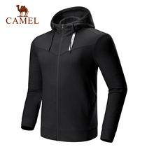 2019 new camel sports mens fashion casual hooded sweater hedging comfortable waist casual sports shirt