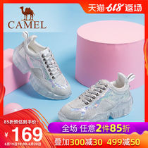 Camel 2019 new sports reflective sequins thick old shoes jelly shoes hit color stitching red tide shoes