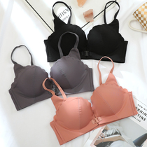 Sexy seamless front buckle underwear girl no rims small bra on the push gather adjustment type receive deputy breast bra set