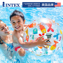Enfants de Intex gonflable ballon Beach ball enseignent tôt natation water-polo boule en plastique jouets sous-marine color ball l'océan Ball