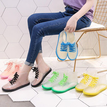 (Promotion) Korean rain boots shoes fashion jelly rain boots short tube students waterproof shoes non-slip crystal shoes