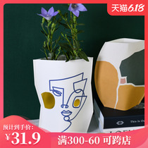 Emma Molly paper vase illustration ornaments piece waterproof aromatherapy candle accessories living room bedroom