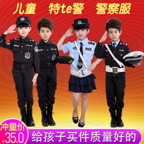 Childrens Police Special Service boy Criminal Police costume role-play costume Traffic Police small police uniforms winter uniforms suit
