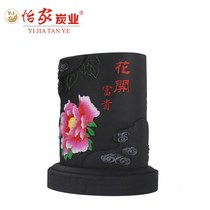 Business gifts activated carbon carving home accessories crafts office flowers rich pen pot ideas