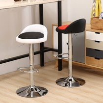 Snack bar white bar stool high stool lift milk tea shop hair salon style cash register vintage folding high chair