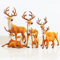 Christmas deer decorations simulation Sika doll mall hotel window Christmas decorations props decoration