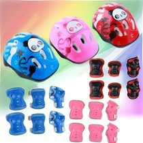 New pulley skating shoes protective childrens helmet protective suit boys and girls helmet suit knee elbow bracers