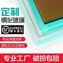 Professional custom 5mm6mm8mm10mm float ultra-white tempered ordinary glass white glass high-permeable safety glass.