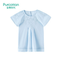 Cotton era 2019 girls embroidered dress woven cotton childrens clothing new Korean female baby summer