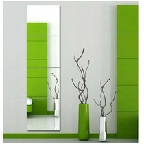 Wall-mounted mirror body simple modern wall-mounted living room paste space-saving Oval dressing mirror