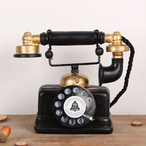 Retro American Industrial Wind telephone resin model decoration living room simulation handicraft wine cabinet Decoration decoration