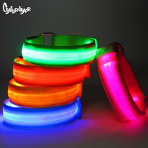CyberDyer night running sports fiber optic LED luminous armband flash luminous arm ring Safety sports equipment