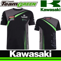 Summer Kawasaki highway motorcycle short-sleeved T-shirt motorcycle riding Knight clothes street sports car racing quick-drying clothes