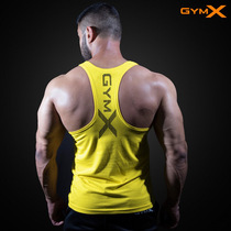 Mens fitness vest sports tights T-shirt quick-drying shirt high-elastic fitness clothes muscle training clothes sleeveless