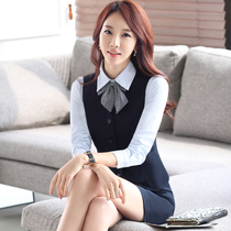 Hotel work clothes autumn and winter service staff uniforms professional vest suit beautician front cashier stewardess