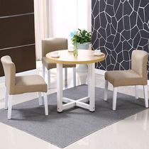 Small coffee table round reception table and chair combination small round table coffee table leisure modern simple business reading