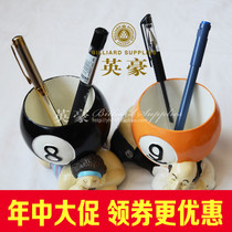 Billiards creative products Alice ass pen Black eight yellow nine resin cartoon character pen billiards gift jewelry