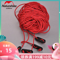 Reflective windproof rope tent rope accessories ground nail pull rope canopy pull rope 4x 4 (16)m ty1036