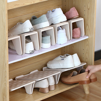 Shoe storage rack simple simple plastic space economy shoes home living room double storage shoe rack