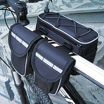 Bike Package Cycling Bag Four-in-one Bike Front Package Tube Bag On Tube Bag Saddle Bag Front Beam Bag.