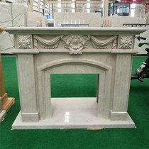 Spot natural marble stone fireplace decorative cabinet indoor and outdoor fireplace frame decorative decoration electric fireplace core