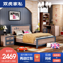 Double Tiger furniture children bed boy combination bed girl single bed teenager bedroom set princess bed 16R1