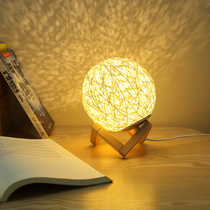 Night light bedroom decoration bedside lamp sleep creative Nordic ins wind girl heart warm lighting network Red Table Lamp
