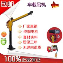 Car Crane 1 tons 12v24v car small crane household hoist electric hoist 220v crane
