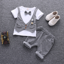 0 Baby Summer 1 childrens age Dress 2 Little Boy small suit short sleeve 3 Summer Korean tide birthday baby thin
