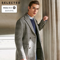 Poly selected the new wool-containing woolen plaid coat coat s) 418427534
