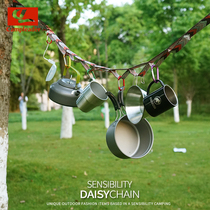 Outdoor new lengthened binding rope sensual lanyard camping tent rope storage accessories strap clothesline daisy chain