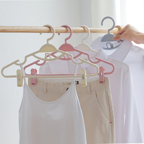 Household hanger pants rack plastic multi-function can be linked with the pants clip non-slip clothes hanging clothes hanging clothes hanger