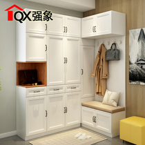 Overall corner shoe wardrobe combination foyer cabinet simple space-saving household small apartment lockers N-207