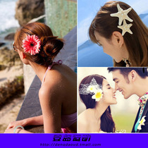 Bikini head flower beach holiday hair band female flower hairpin corsage seaside travel maillot de bain head flower photo